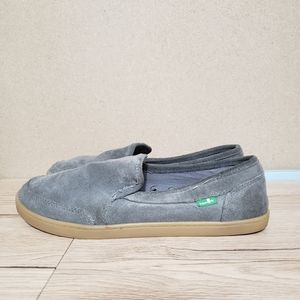 Sanuk Grey Suede Loafers